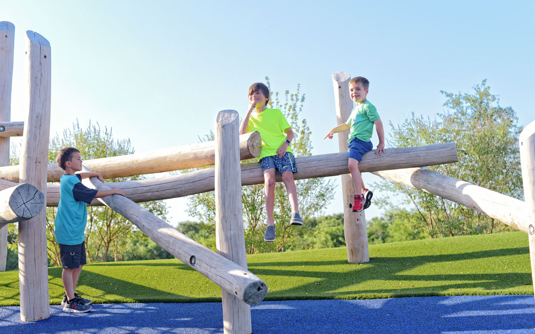 log jam playground natural climb interactive