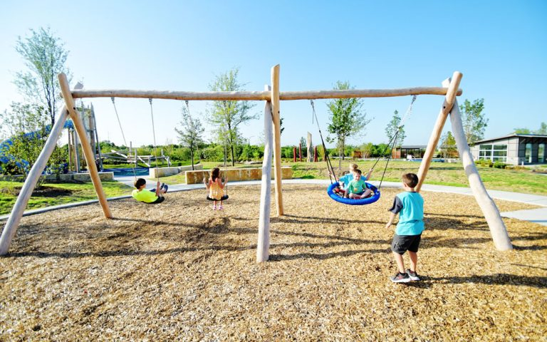 swings playground natural play value