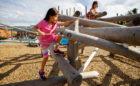 david hamilton log jam climber natural wood playground non-prescriptive