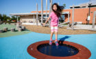 richmond hill accessible playground rubber trampoline