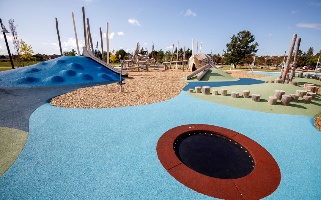 richmond hill beach themed playground summer accessible rubber surfacing