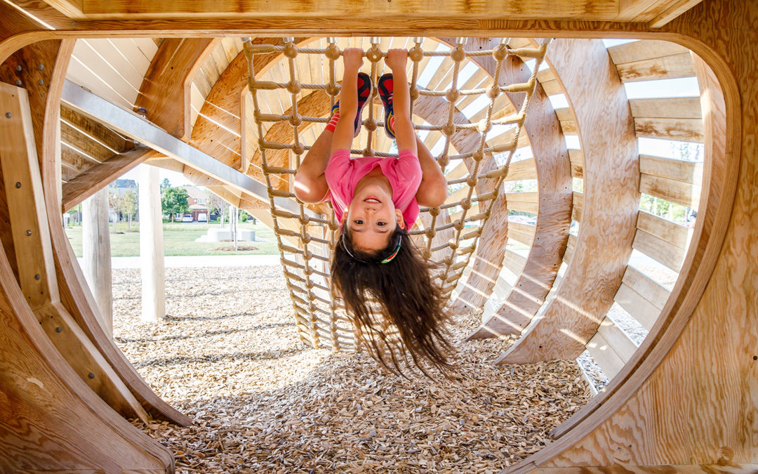 richmond hill ontario natural playground conch shell net rope climber