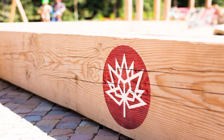 150 Canada playground calgary natural custom wood bench