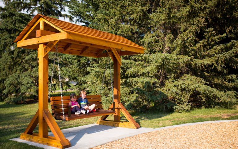 confederation park swing bench site amenity