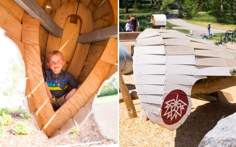 custom wood sculpture playground canada calgary
