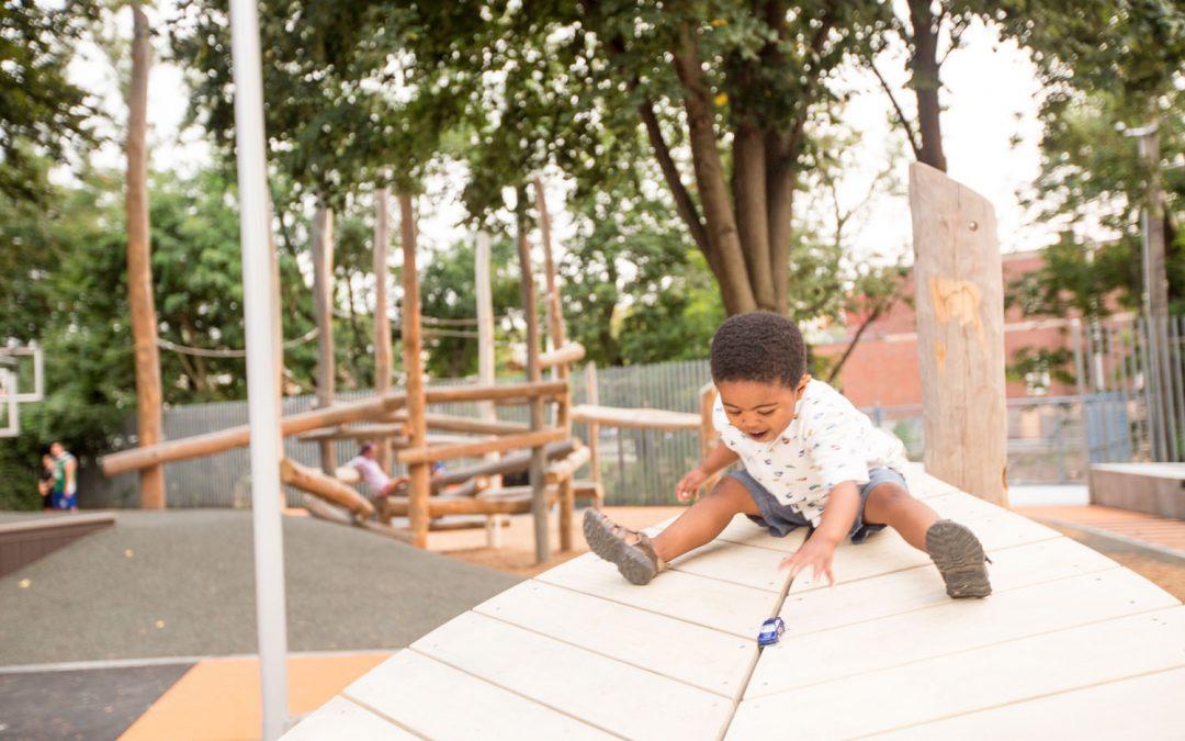 Hoyt Sullivan Massachusetts playground nature wood nonprescriptive play
