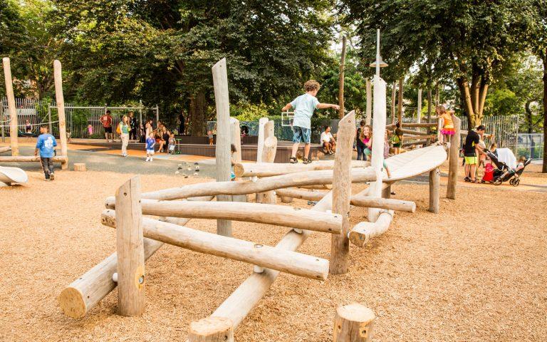 Hoyt Sullivan natural log playground adventure