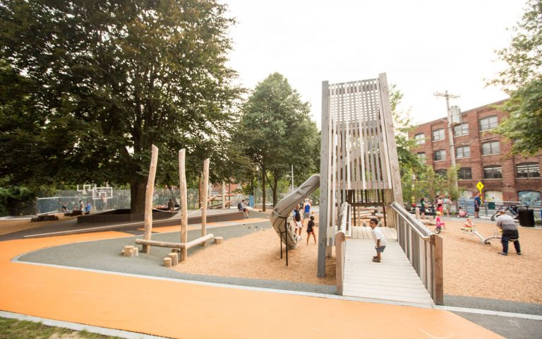 Massachusetts accessible ramp tower slide playground