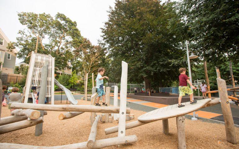 Massachusetts playground natural play nature wood climbing