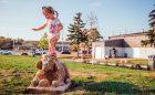 Mississauga park playground wood sculpture