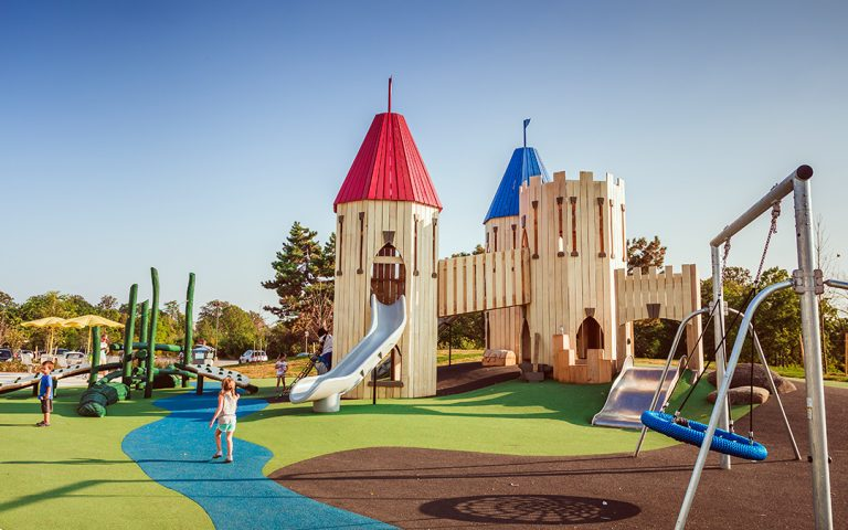 Mississauga playground castle towers