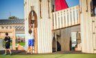 Mississauga playground wood towers castle