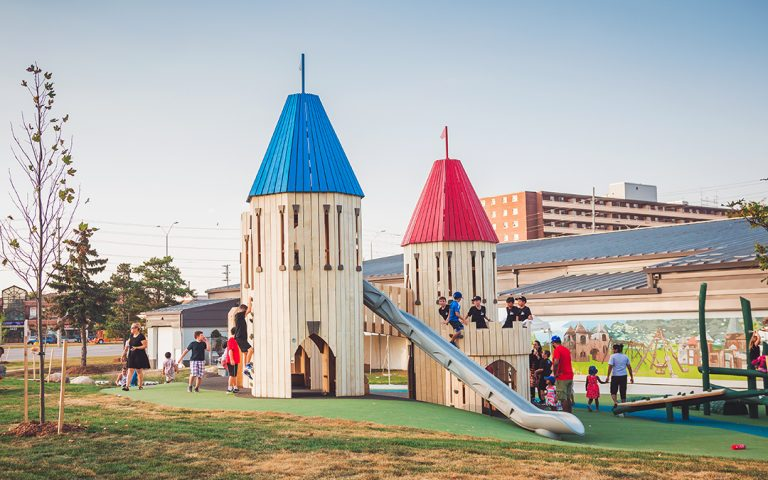 Paul Coffey Ontario park medieval castle towers play