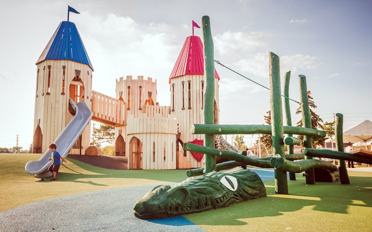 Paul Coffey Park playground castle dragon
