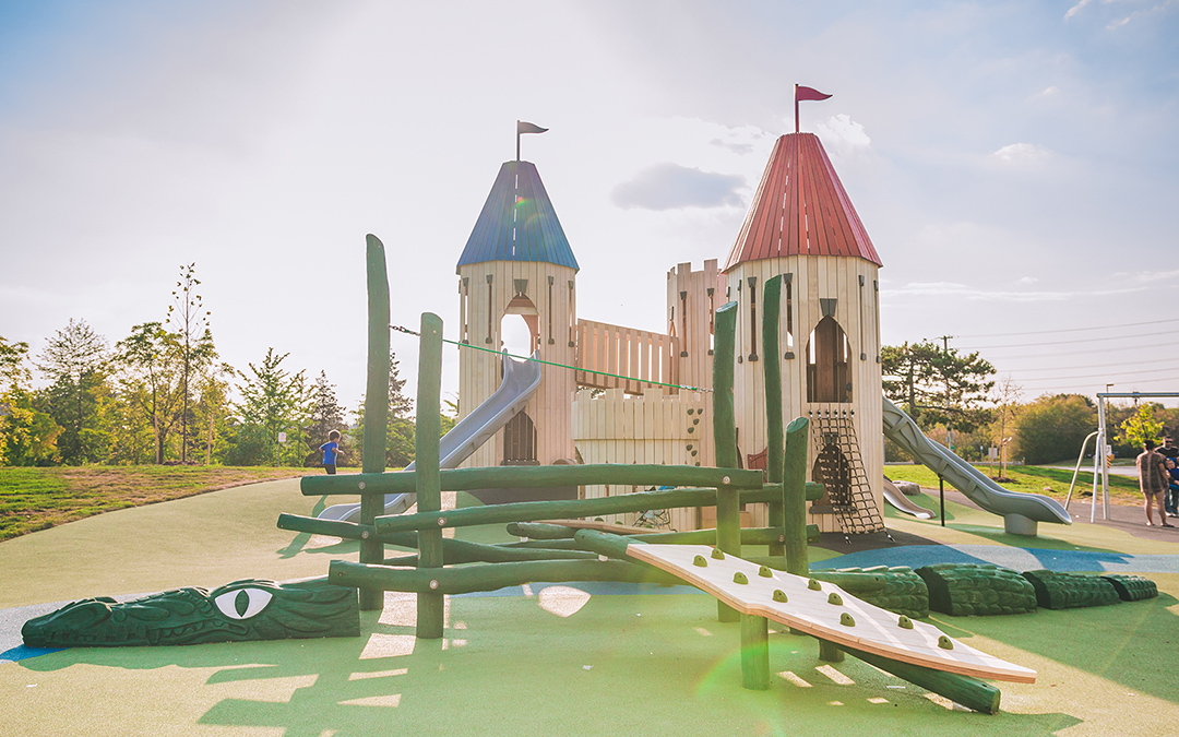 Paul Coffey castle playground adventure play