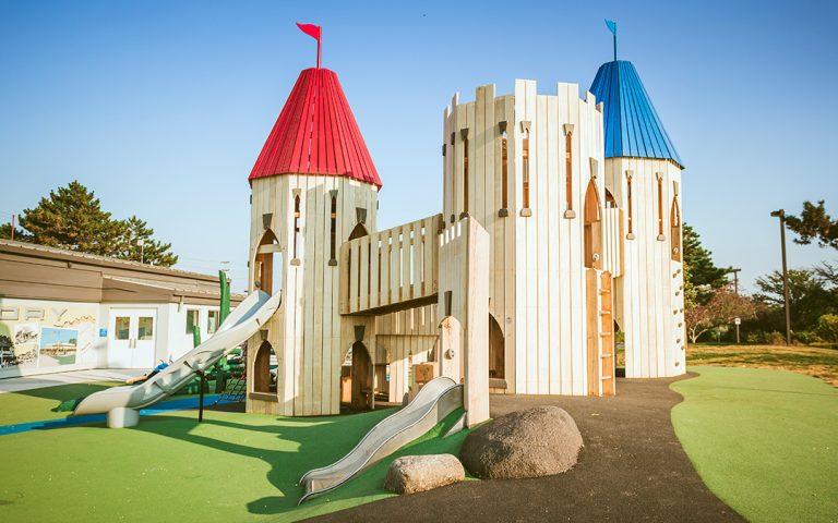 Paul Coffey natural playground towers