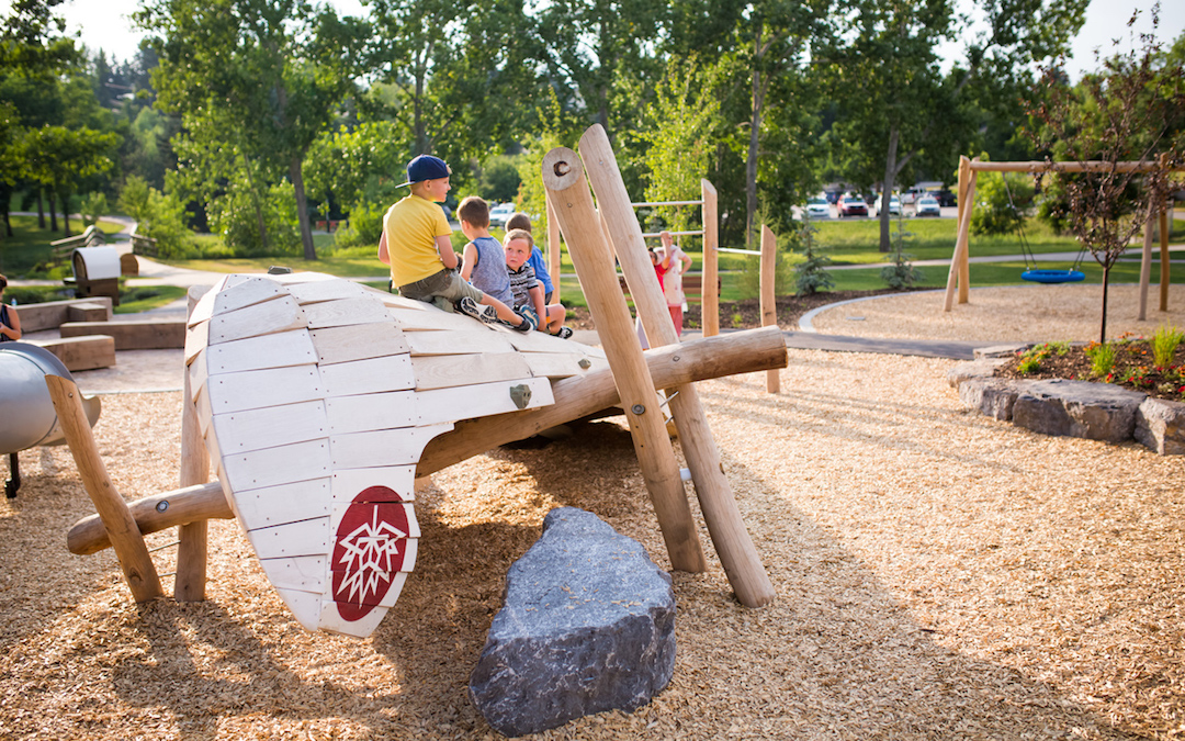 robinia log play sculpture climbing rock playground natural