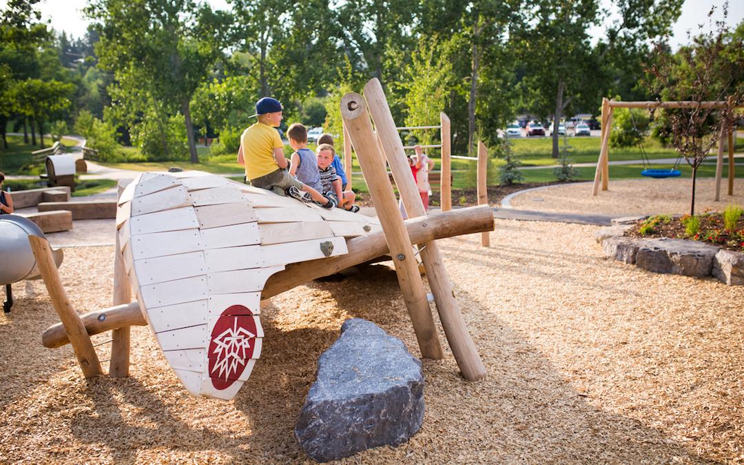 robinia log play sculpture climbing rock playground natural