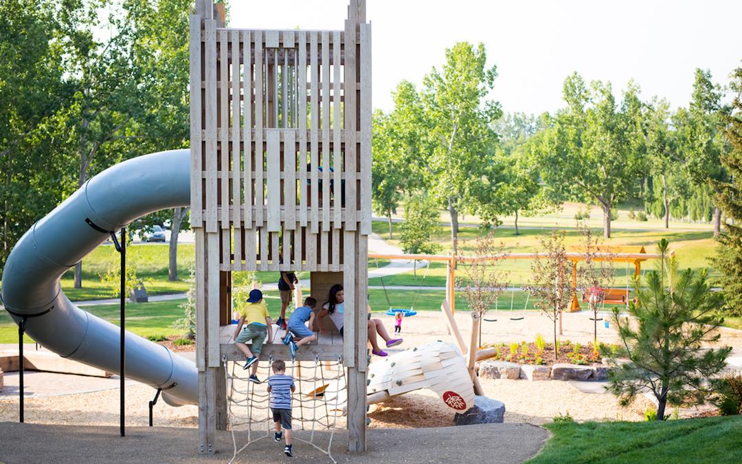slide tube playground natural confederation park net