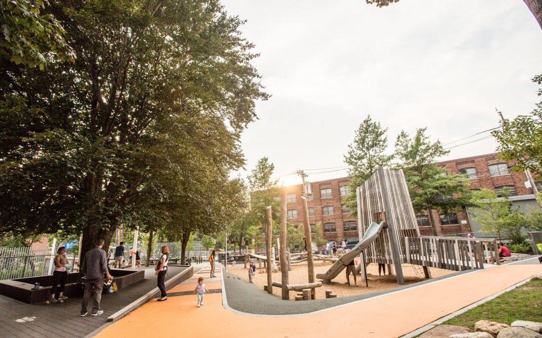 Somerville Massachusetts adventure playground natural wood