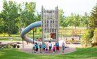 wood custom playground wood structure architecture slide children tower playground