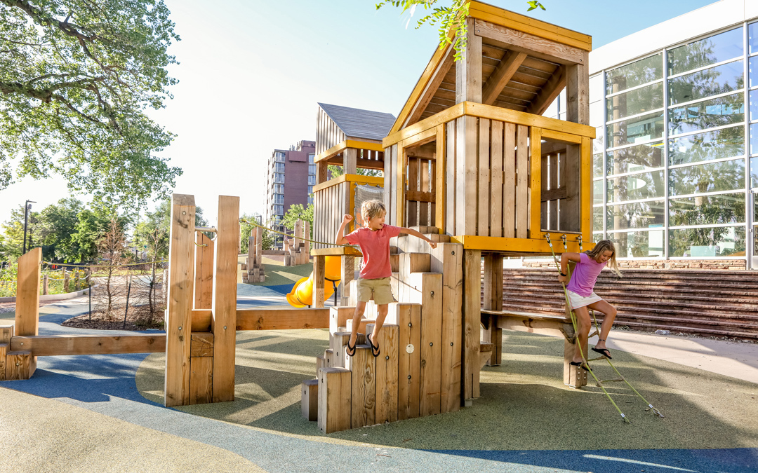 climbing natural tower playground active stackey timber balance