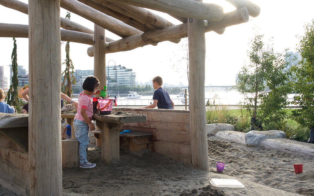 creekside park natural logs sand playground