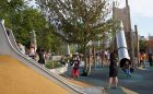 creekside park playground hill slide