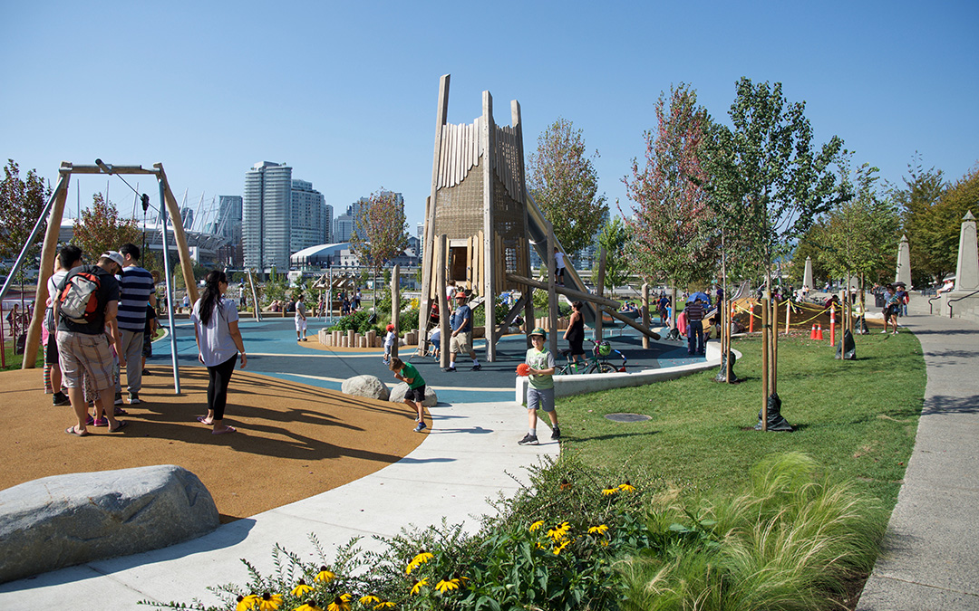 creekside park vancouver natural playground