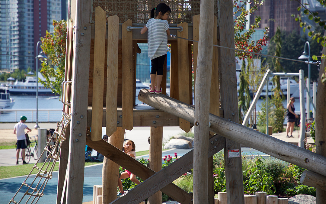 creekside park vancouver playground natural tower