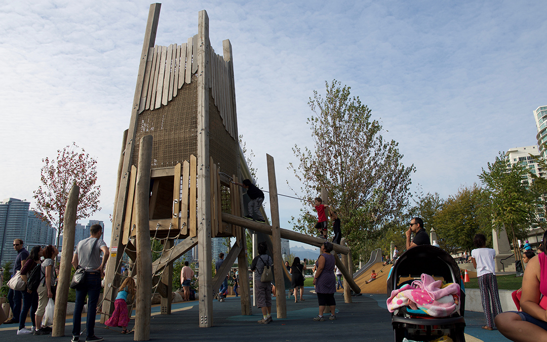 creekside park vancouver timber tower natural play
