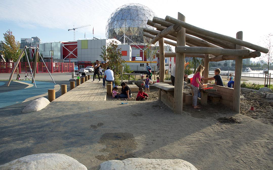 Natural playground vancouver british columbia logs