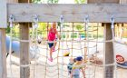 rope climbing net playground natural wood custom