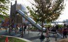 vancouver natural playground metal slide