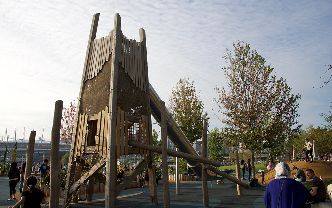 vancouver playground timber tower adventure play