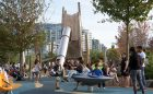 vancouver playground tower stainless steel slide