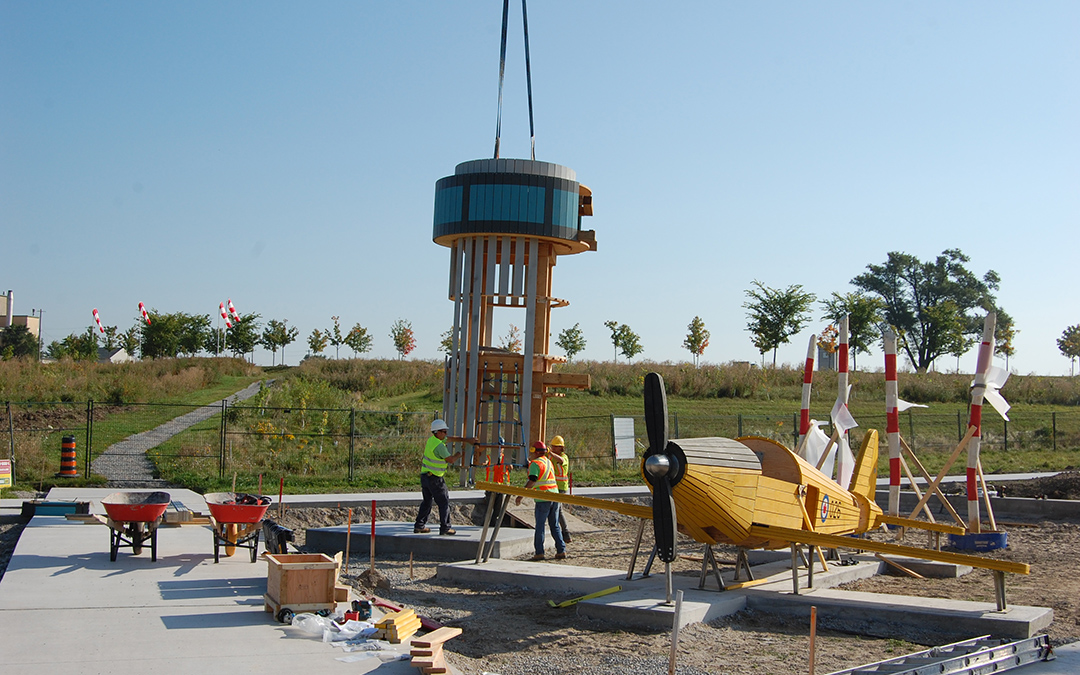 Downsview Park Toronto Ontario play airplane tower