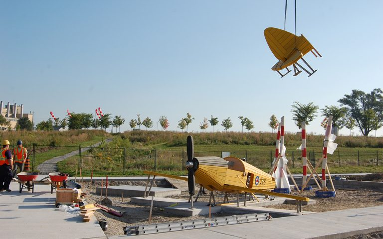 Downsview Park playground airplane sculpture
