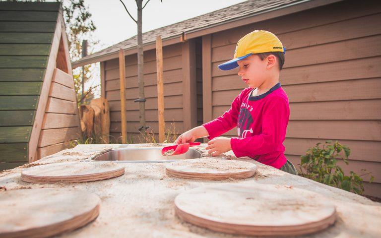 elementary school playground outdoor kitchen