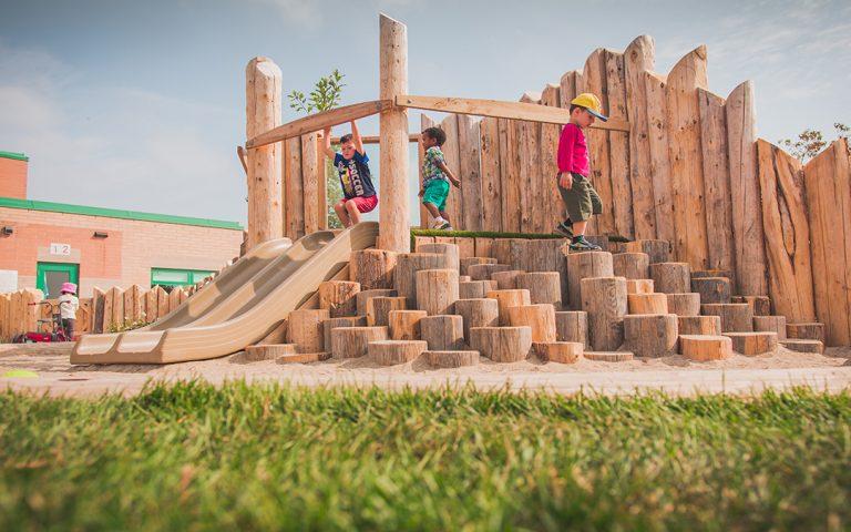 st bernadette elementary school wood slide