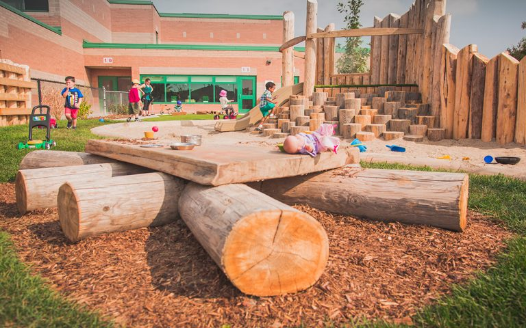 st bernadette natural playground discovery table