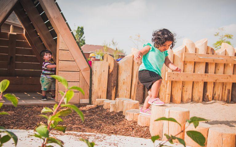 st bernadette playground hut steppers