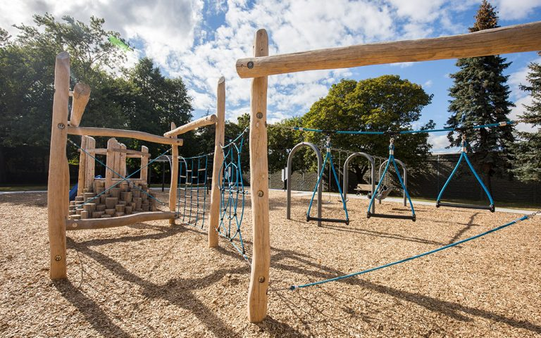 Lord Seaton wood rope course playground