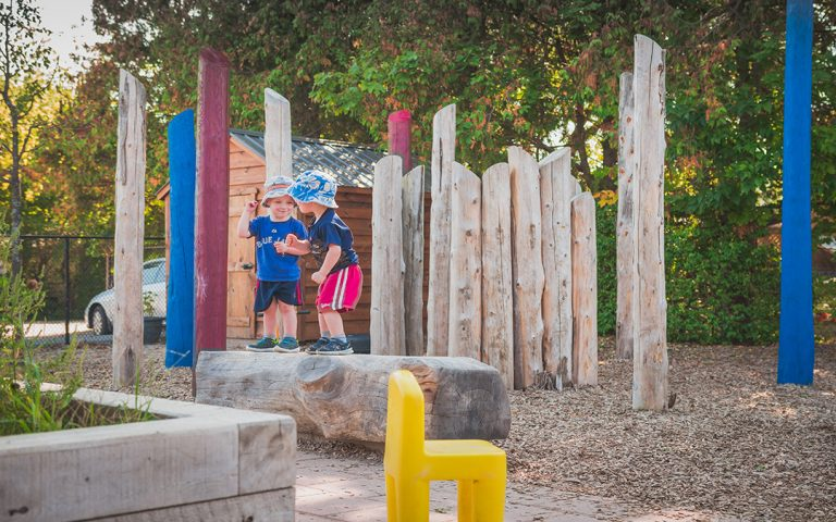 child care natural play posts