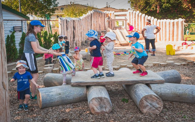 child care playground natural discovery table