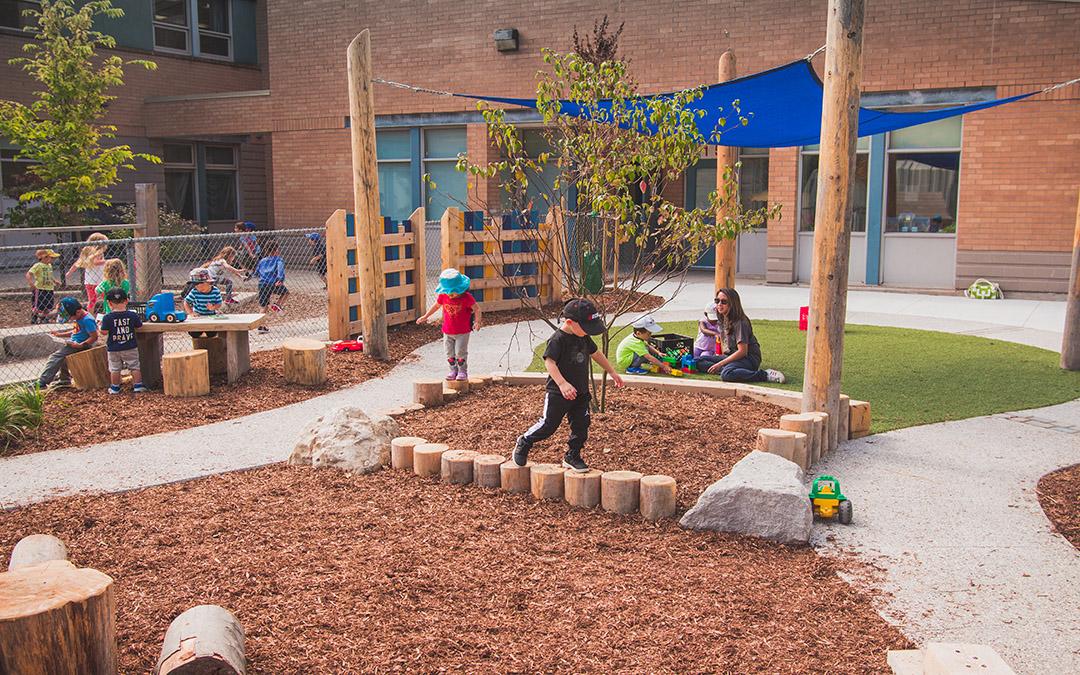 pilgrim woods natural kindergarten playground