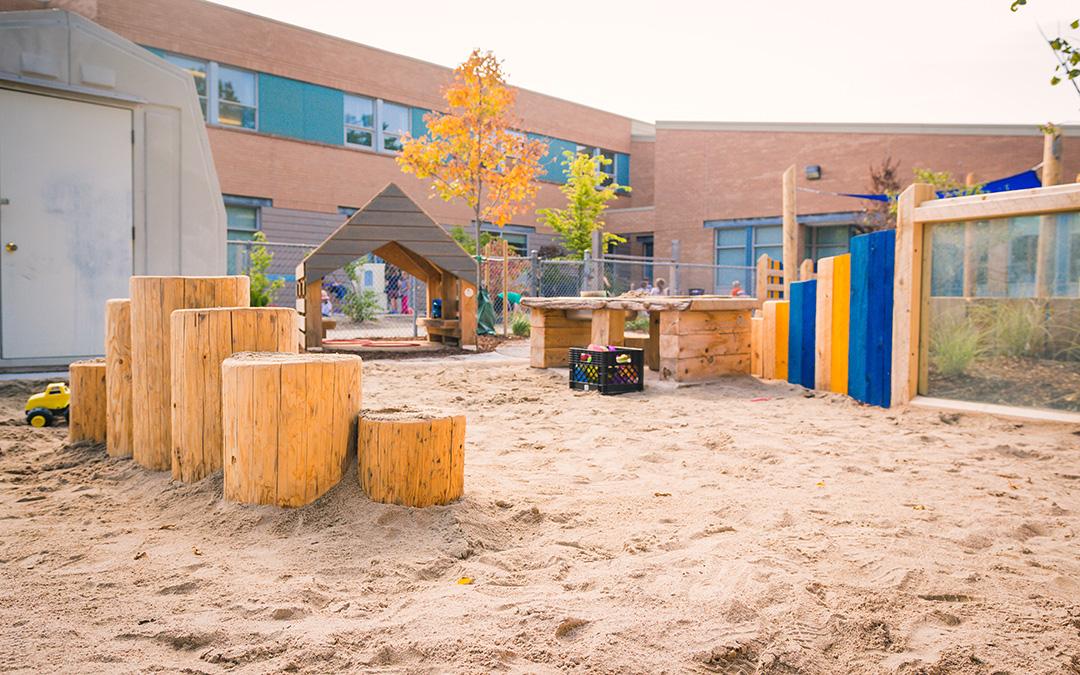 pilgrim woods school playground sand play