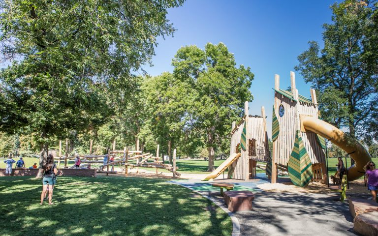 washington park Denver natural playground imagination