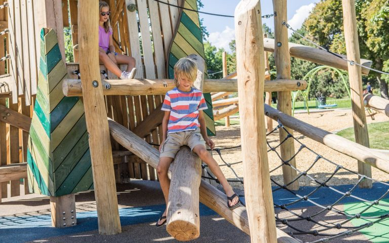 washington park denver colorado log climber playground nets