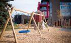 Calgary natural playground swings tower